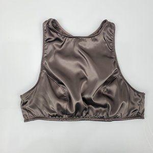 Victoria's Secret Brown Satin Bralette Swim Top M